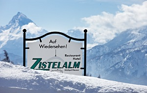 Zistelalm-Schild-Winter